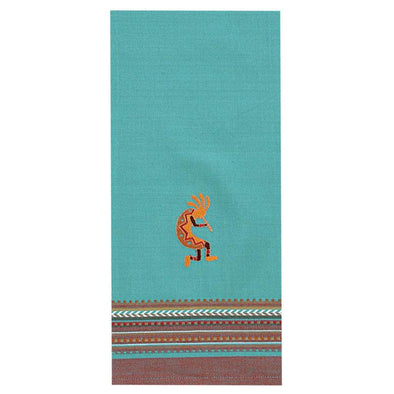 KD Embr. Kokopelli Tea Towel