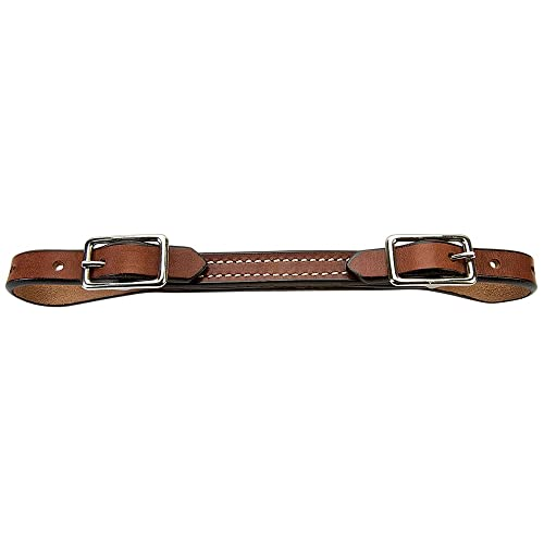 Weaver Flat Bridle Leather Curb Strap - Rich Brown