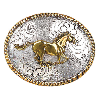 Blazin Roxx Ladies Buckle Oval - Running Horse
