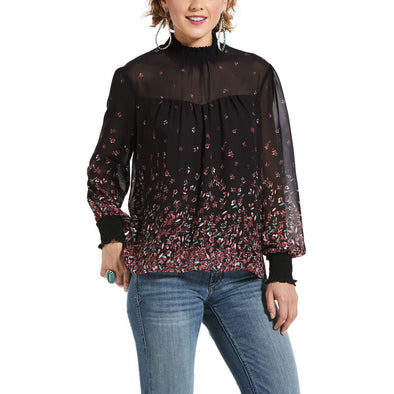 Ariat Womens Flower Fall LS Tunic