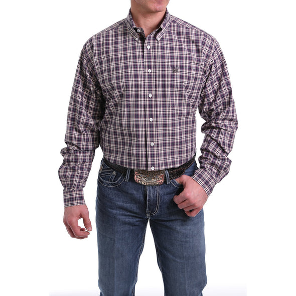 Cinch Men's LS Plaid Shirt