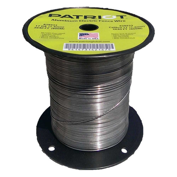 Patriot Aluminum Electric Fence Wire 17 GA 2640 FT