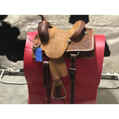 "Irvine 13"" Youth Cutting Saddle"