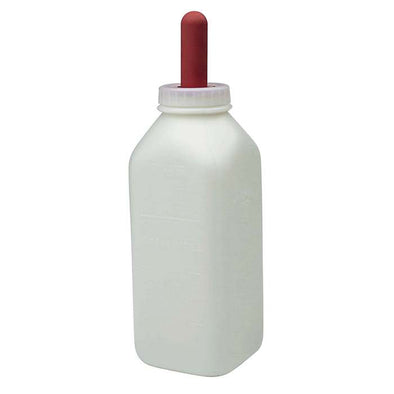 Calf Nursing Bottle with Screw on Nipple - Irvines Saddles