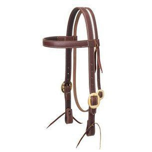 Weaver Leather Working Tack Browband Headstall with Solid Brass, 1""