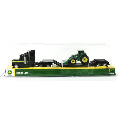1:64 John Deere Semi With Trailer And Tractor