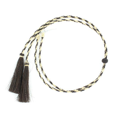 Horse Hair Stampede String with Pins, Natural