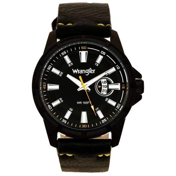 Wrangler 46MM, Black Strap Watch