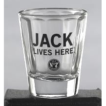JD Jack Lives Here Shot Glass