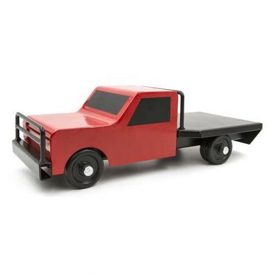 Little Buster Toys Flatbed Farm Truck Red