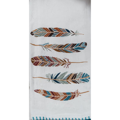 Adobe Feathers Flour Sack Towel