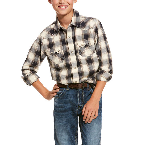 Ariat Boy's Kaiser Retro Snap Shirt