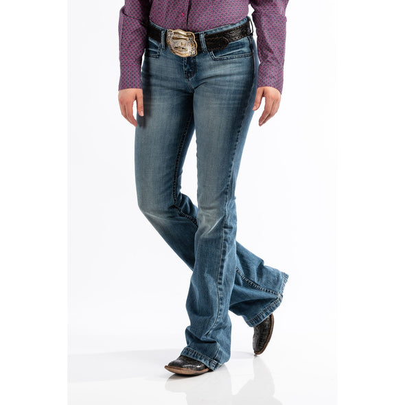 "Cinch Women's ""Lynden"" Trouser Jean - Light Stonewash"