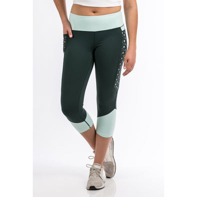 Cinch Women's Athletic Legging - Grey/Mint