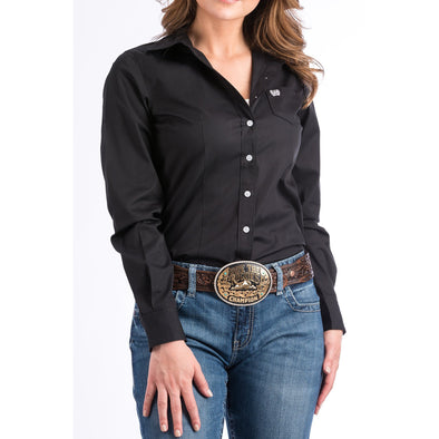 Cinch Women's Classic Fit Cotton Shirt - Black