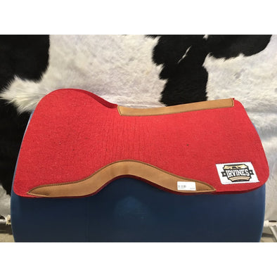 "Irvine's Front Open Barrel Square Contoured 1"" Wool Felt w/Wear Leather"