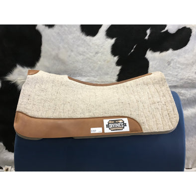 Irvine's Felt Contoured Saddle Pad w/Wear Leather
