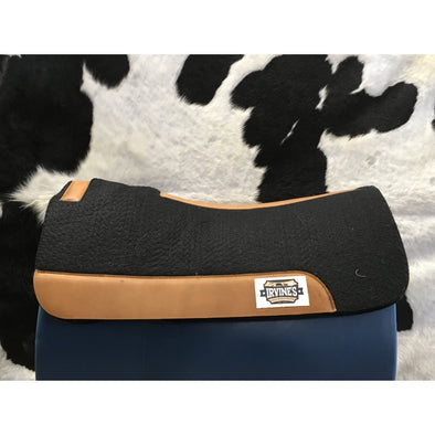 Irvine's Synthetic Felt Saddle Pad w/Leather Wear