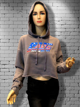 FABs Patriot Cropped Hoodie. Storm Grey