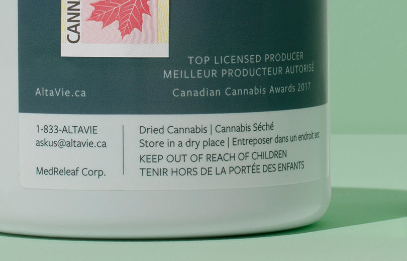 Image of the Licensed Producer contact information on the product label