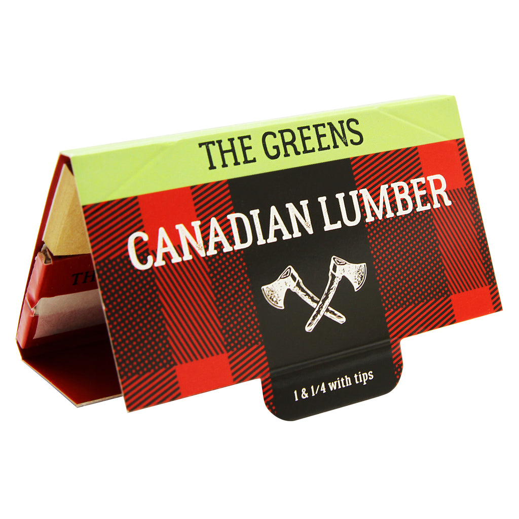 Greens Unbleached Hemp Rolling Papers with Tips -