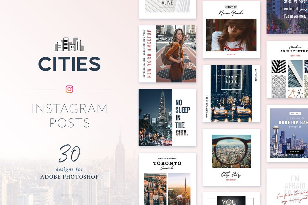 Instagram Posts Cities Pack