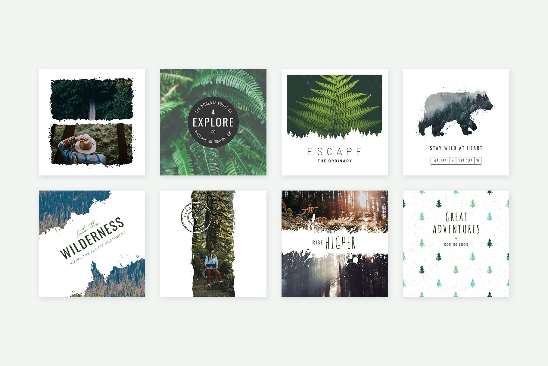 Instagram Posts Forests Pack
