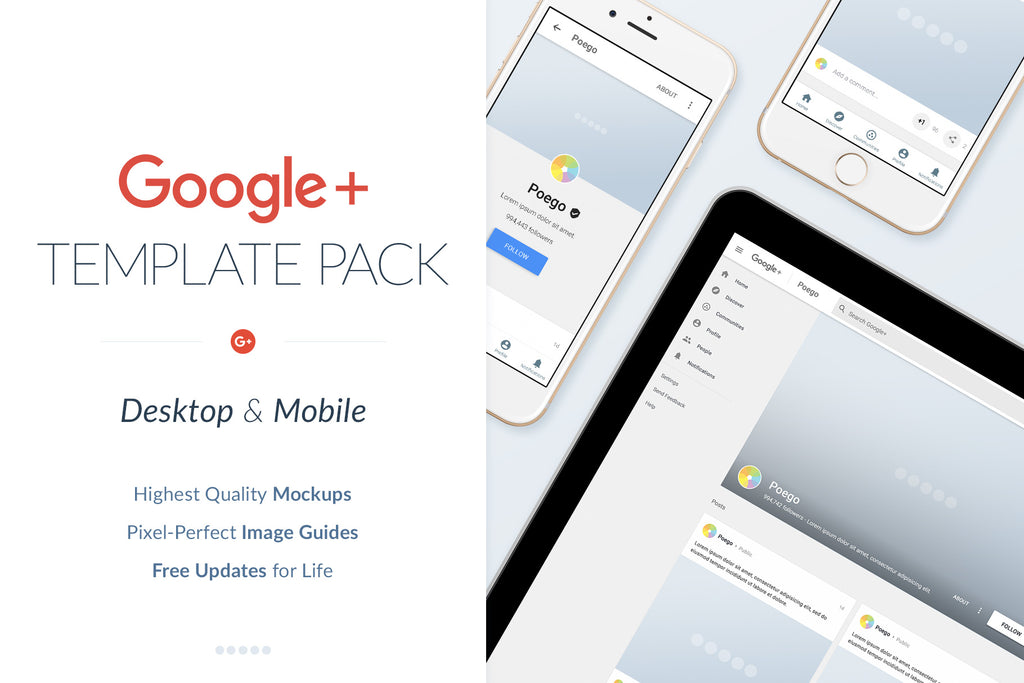 Google+ Social Media Template Pack