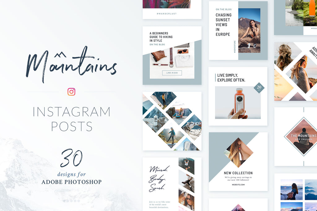 Instagram Posts Mountains Pack