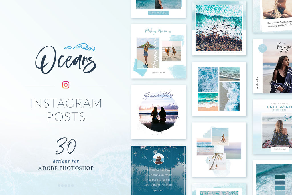 Instagram Posts Oceans Pack