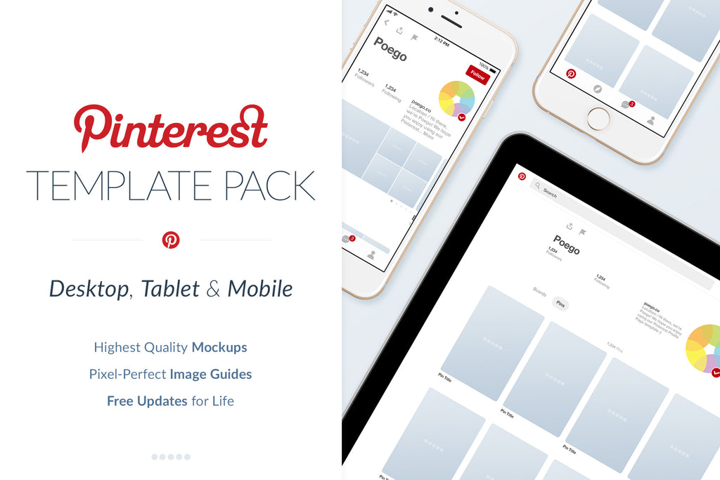 Pinterest Social Media Template Pack