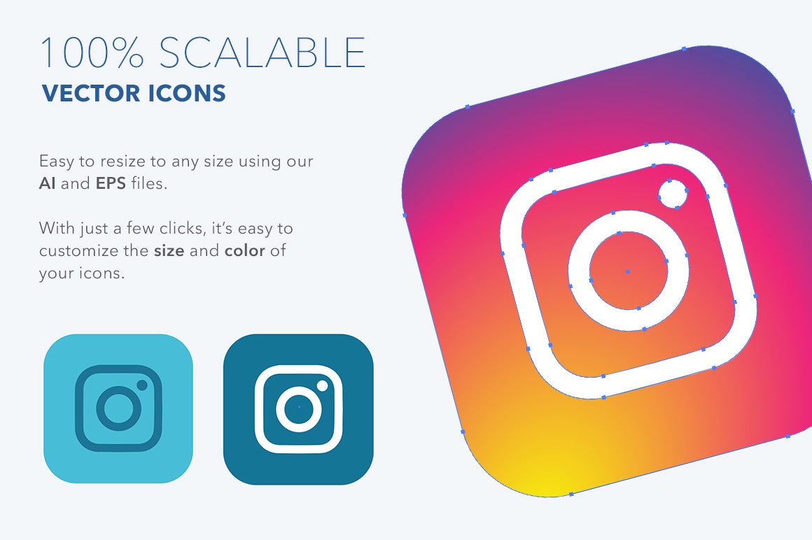 2019 Rounded Square Social Icons