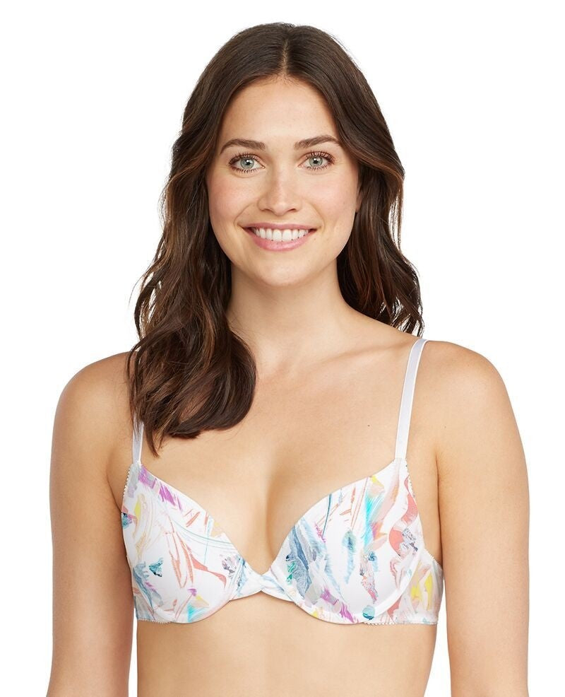 Gossamer Triple Mesh Bump-It-Up Bra - Aurora Print