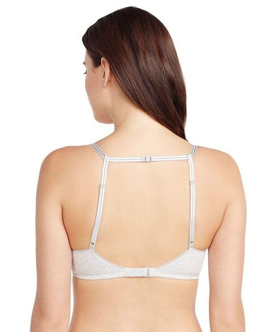 Cabana Cotton Lounge Racerback Bralette - Heather Grey