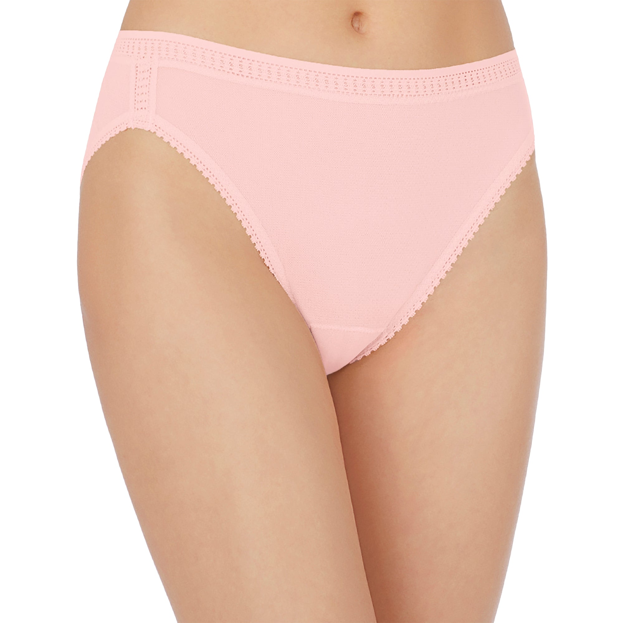 Gossamer Mesh Hi‒Cut Brief - Blush