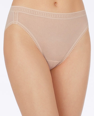 Gossamer Mesh Hi-Cut Brief - Champagne