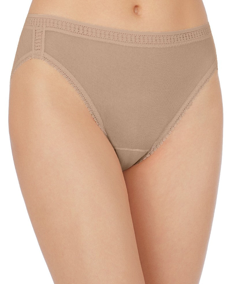 Gossamer Mesh Hi-Cut Brief - Mocha