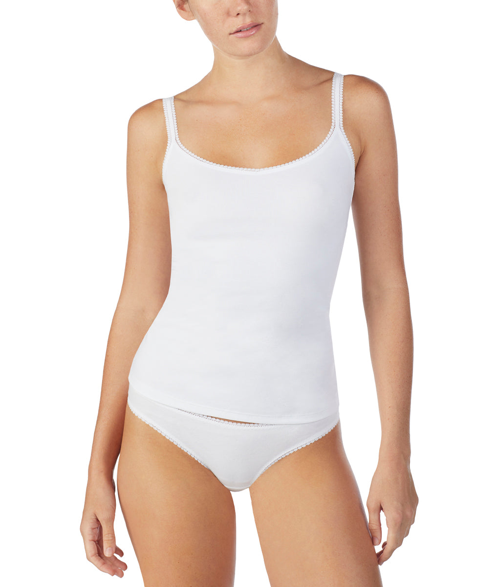 Cabana Cotton Reversible Camisole - White