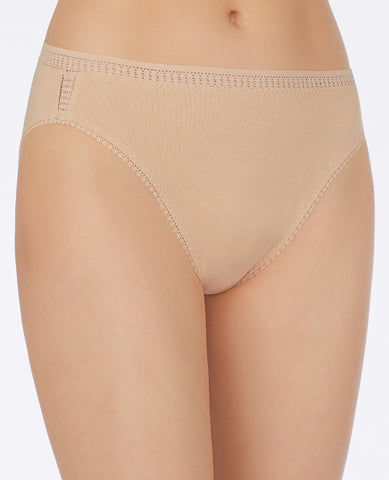 Cabana Cotton Hi-Cut Brief - Champagne