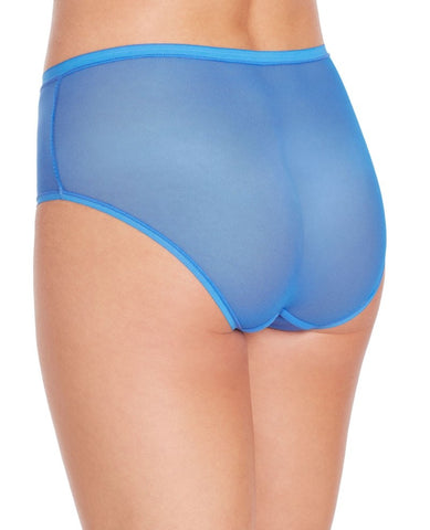 Gossamer Mesh Modern Hi-Cut Brief - Mirage Blue