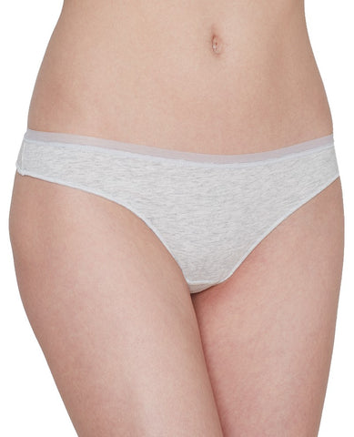 Cabana Cotton Modal Thong - Light Grey Heather
