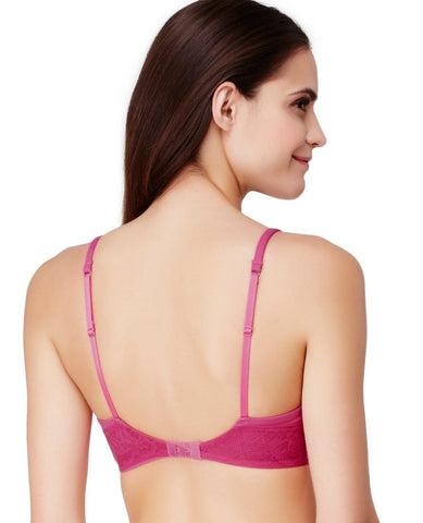 Cabana Cotton Modal Wire-Free Bra - Berry Heather