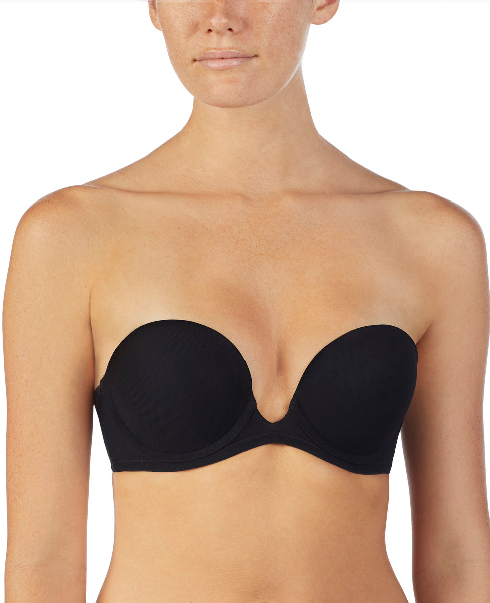 Next to Nothing Plunge Strapless - Black