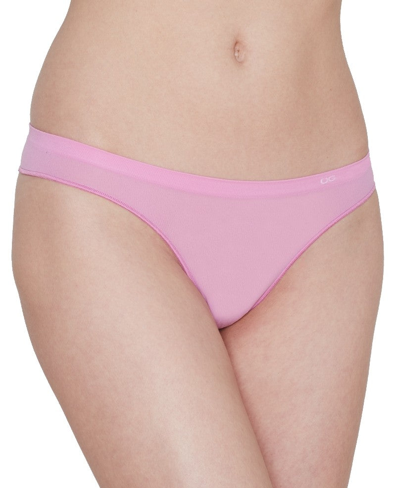 Beautifully Basic Seamless Low Rise Thong - Orchid Ice