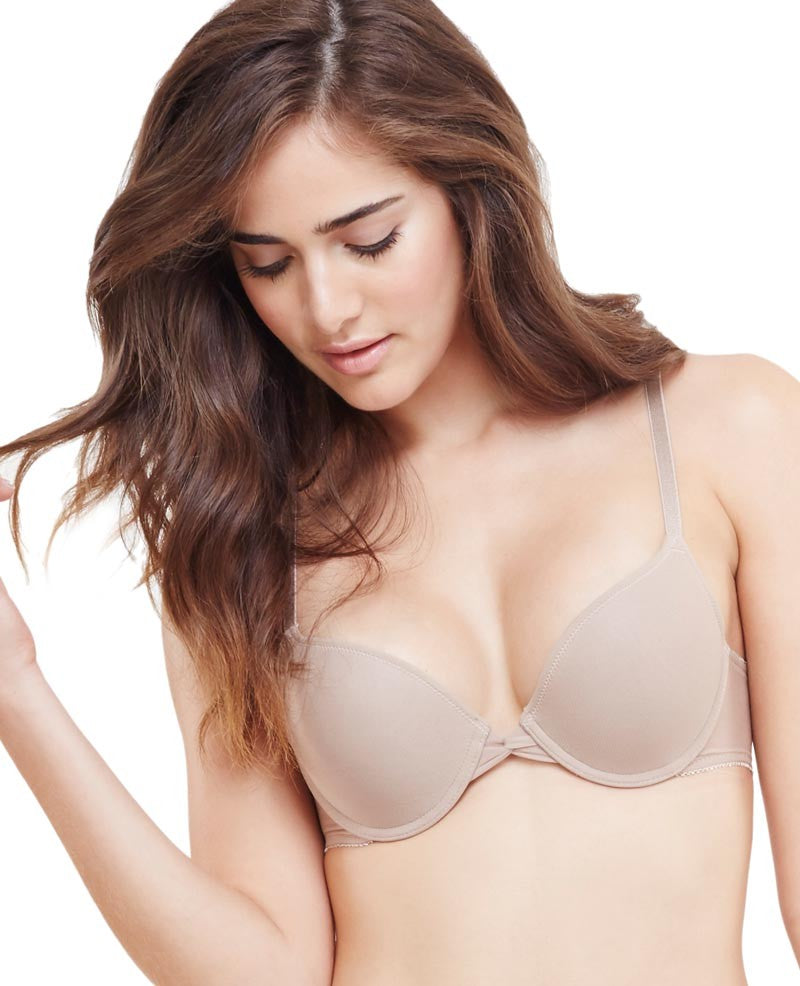 Gossamer Mesh Bump-It-Up Bra - Mocha