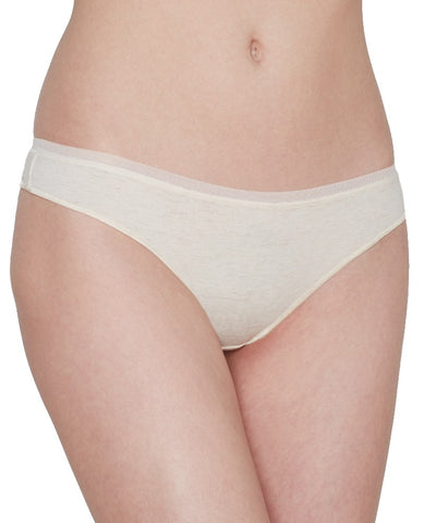 Cabana Cotton Modal Thong - Oatmeal Heather