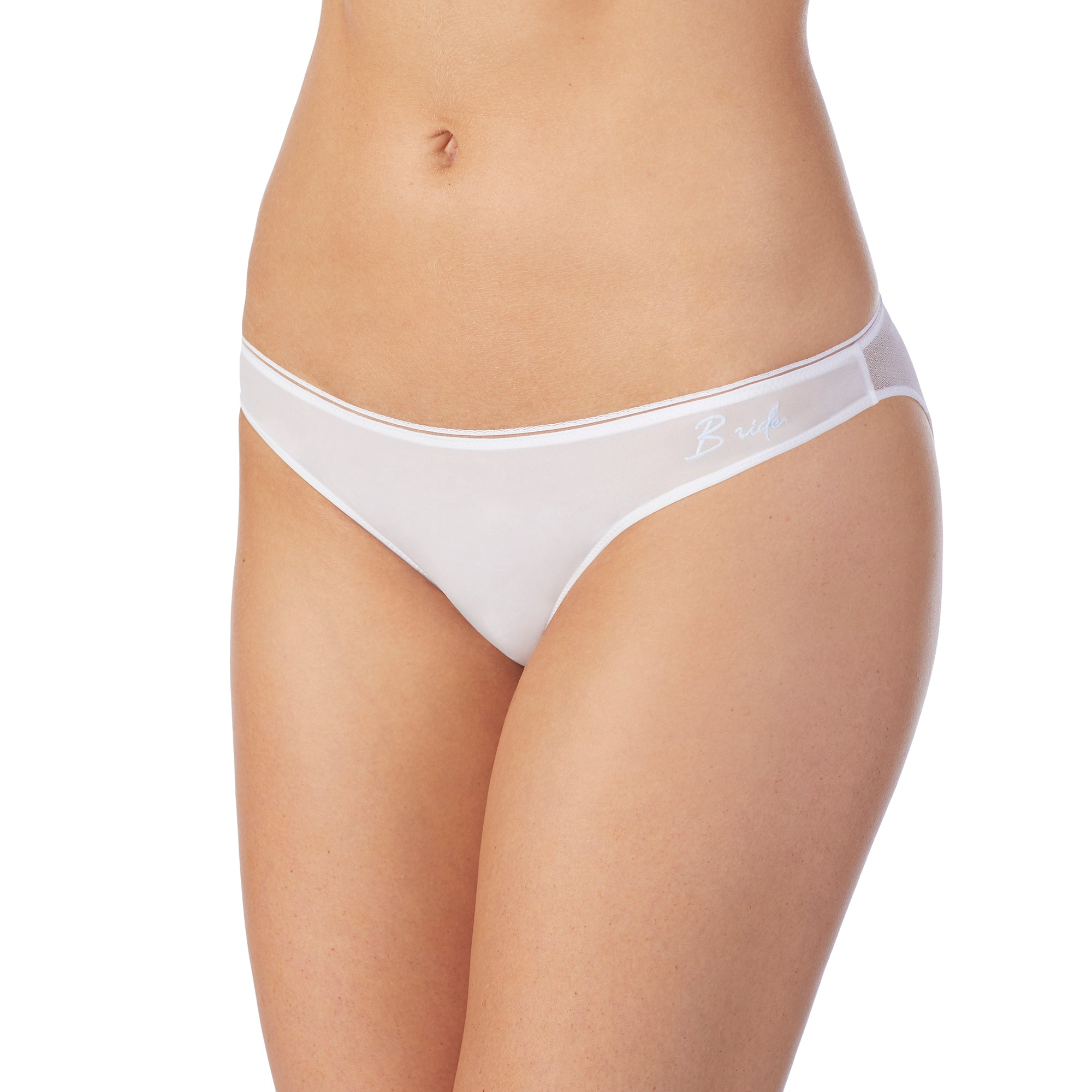 Sleek & Sheer Bridal Bikini - White