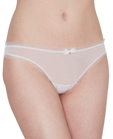 Gossamer Mesh Bridal Hip-G Thong - White