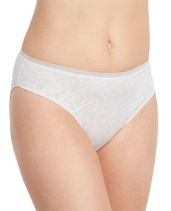 Cabana Cotton Lounge Hi-Cut Brief - Heather Grey
