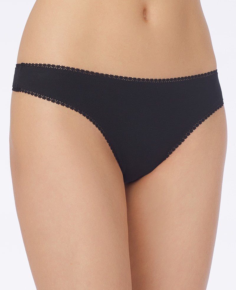 Cabana Cotton Hip G Thong - Black